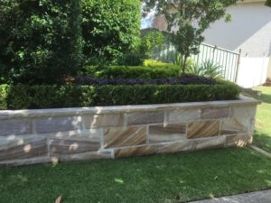 Retaining wall built in Sydney's Hills District