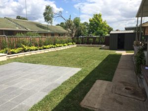 Completed landscaping job in Castle Hill