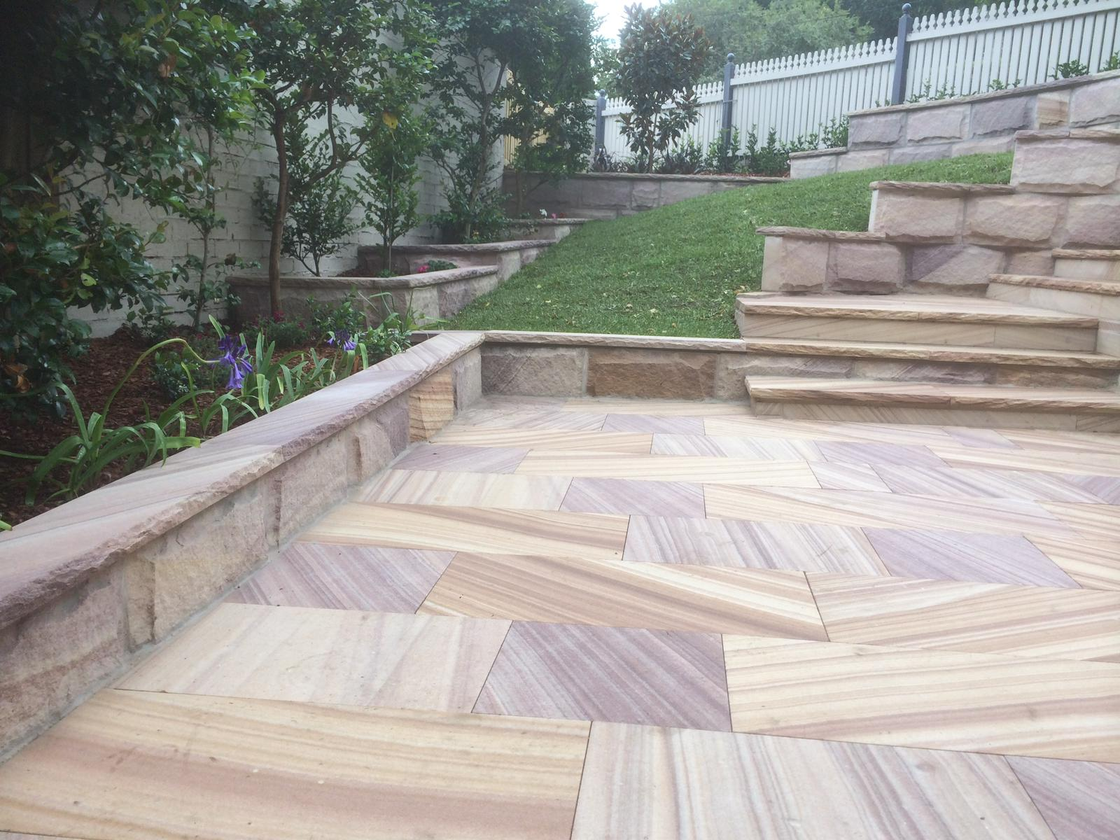 Marble pavers in a feature area in a Kellyville home