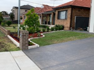 A newly paved concrete driveway in Baulkham Hills